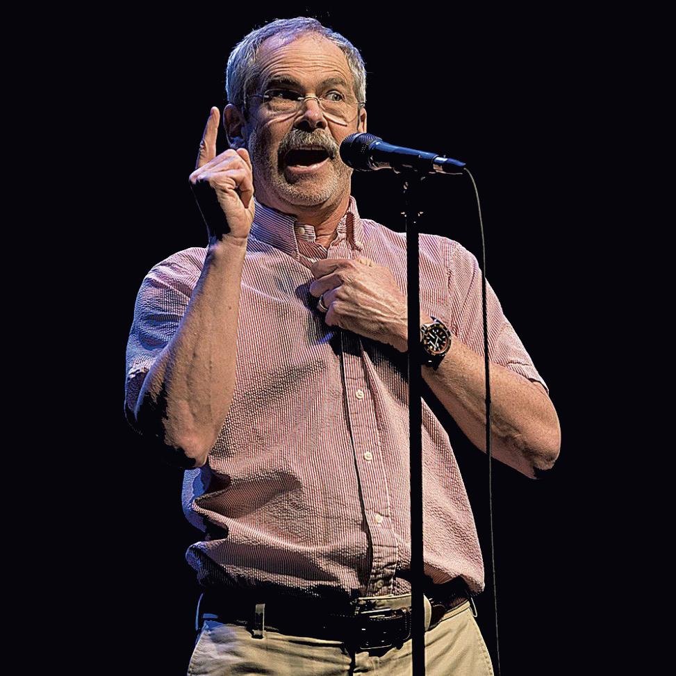 Mark Redmond at The Moth GrandSLAM at Flynn Theatre in 2018